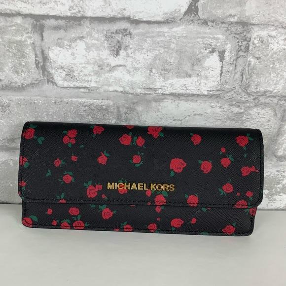 60c45b67c8b6 MICHAEL Michael Kors Bags | Michael Kors Jet Set Travel Flat Wallet ...